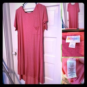 Lularoe Carly Dress L Pink EUC Comfy & Versatile